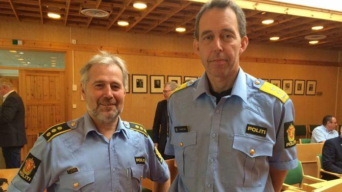 INNSTILLING: Arne Johannessen (t.v.) meiner forholda i Aurland er godt nok vurdert. Om ti dagar kjem innstillinga frå politimeister Kaare Songstad. Arkiv