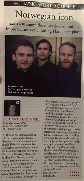 SKRYT: BBC er svært begeistra for trioen med to av tre frå Sogn og Fjordane. Faksimile