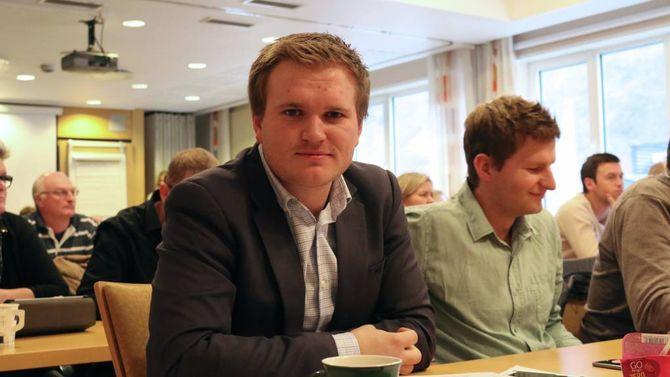 IKKJE OVERRASKA: Aleksander Øren Heen (Sp) røysta mot, men er ikkje overraska over utfallet.