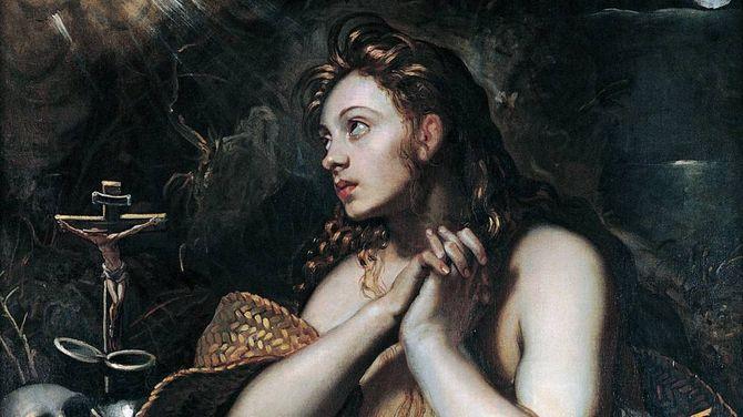 BLANDING: Maria Magdalena er blanda saman med namnesystera Maria frå Betania, systera til Lasarus. Her ser ein Maria Magdalena på eit måleri frå Musei Capitolini i Roma.