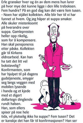 NOVELLEFORM: Påskekrimmen på Tine sine mjølkekartongar vart i 2010 skriven av Harald Rosenløw Eeg.