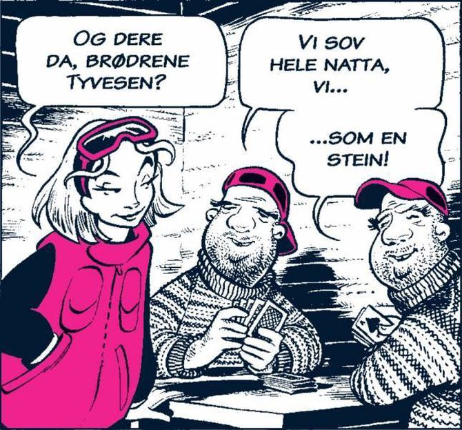 FØRSTE TEIKNESERIE: Tine satsar no på teikneseriekrim framfor noveller. Arild Midthun teikna også den aller første, som kom i 2008. Her var DetekTINE helten.