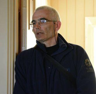 KREVJANDE ARBEID: Rein-Arne Golf i Statens naturoppsyn under møtet med statsråden på Natvik gard onsdag.