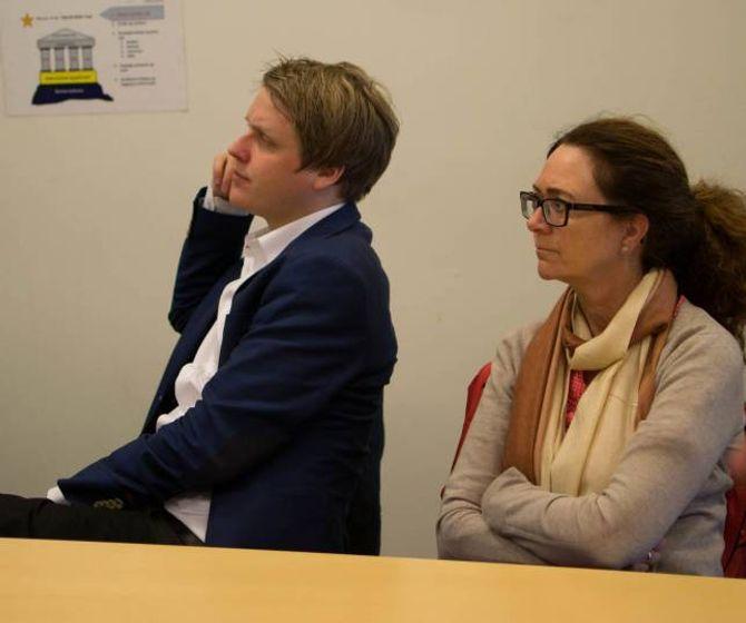 Åsmund Aukrust og Ingrid Heggø var begge nysgjerrige på industrinæringa sine utviklingsplanar i Årdal.