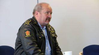 AVGJERANDE: Lensmann i Årdal Magne Knudsen seier folk har gjort ein fantastisk jobb frå det tok til å brenne. Arkiv