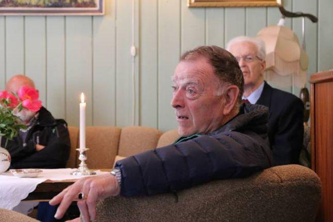 HISTORIER: Edmund Bugge Hæreid delte sine opplevingar frå krigen med tilhøyrarane.