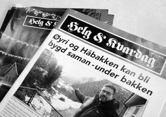 FLEIRE OG MEIR INNHALD: Helg og Kvardag, informasjonsbladet i Lærdal kommune, kjem no ut tre gonger i året.