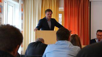 NYTT FRAMLEGG: Aleksander Øren Heen kom med ein relativt likt framlegg som Ap, men med ei litt anna innretning.