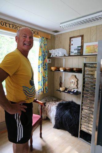 EIGE HJØRNE: Svigerfar til Haugen, Ottar Sprakehaug, har eit eige hjørne i Kong Sverres Hus.
