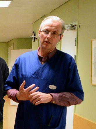 SKAL STARTE OPPLÆRINGA: Frode Myklebust, kommunelege og legevaktsjef ved Lærdal sjukehus. Arkivfoto
