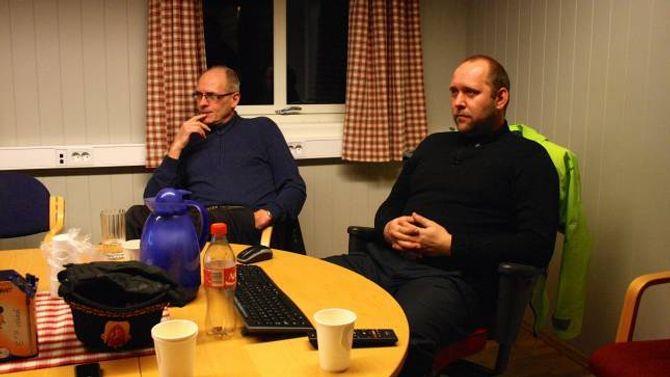 EVAKUERTE: Knut Arne Klingenberg (til venstre) beslutta å evakuera innbyggjarane i Ålmennhagen.