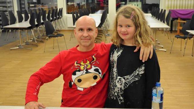 – MOROSAMT: Sandra Myrmel Moen tykte showet til Øistein Kristiansen var veldig morosamt.