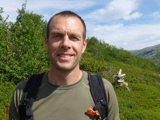 GLAD I FJELLET: Owen Robson iReinheimen Nasjonalpark i Møre og Romsdal.