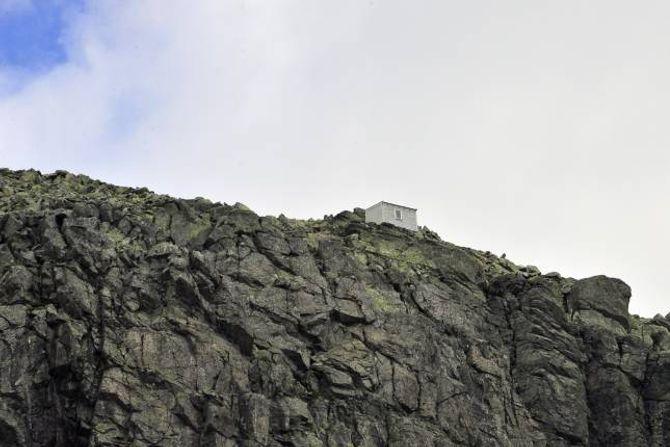 VÅGALT: Skarvereiret, eit av dei mest vågale byggeprosjekta som er å finne i Noreg.