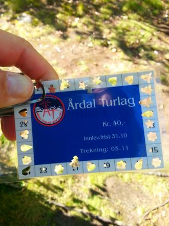 STØTTAR TURLAGET: Mange kjøper klippekort for å støtta Årdal Turlag, og sjølvsagt motivera seg sjølv