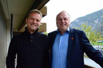 SAMARBEID: Trond Øyen Einemo (H) og Jan Geir Solheim (Sp).