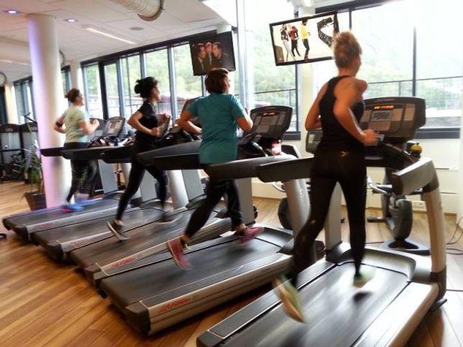 AKTIVE MEDLEMER: I dag er det litt over 500 personar som er medlemer i Årdal Gym. Her bilete frå i går