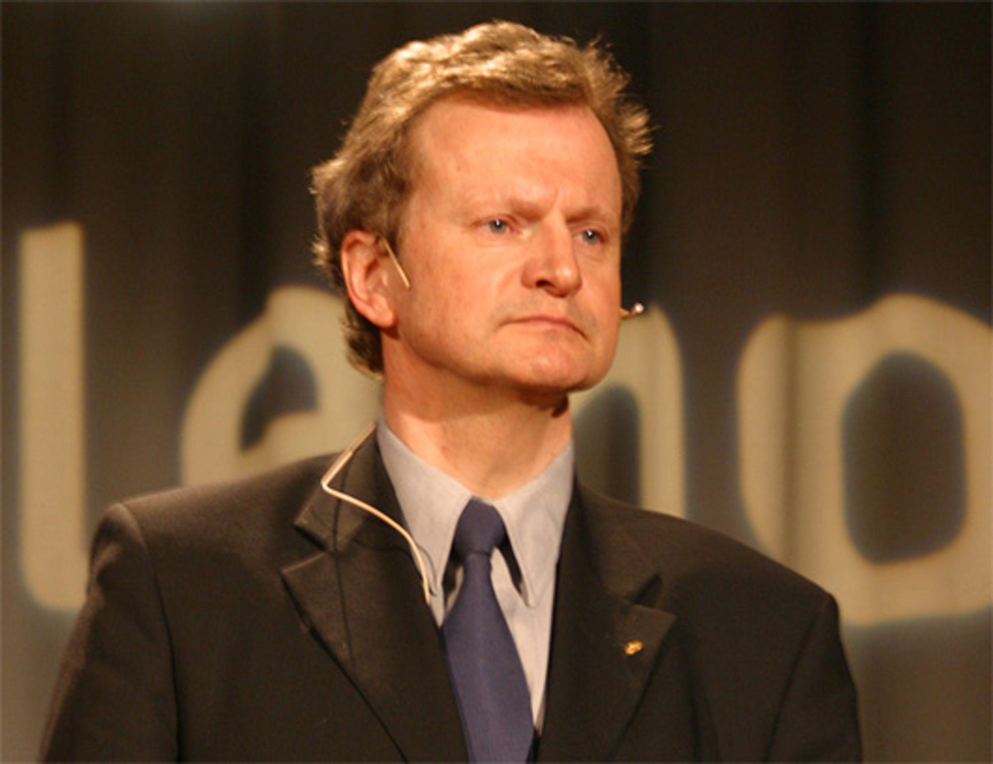 Telenorsjef Jon Fredrik Baksaas er i hardt vær.