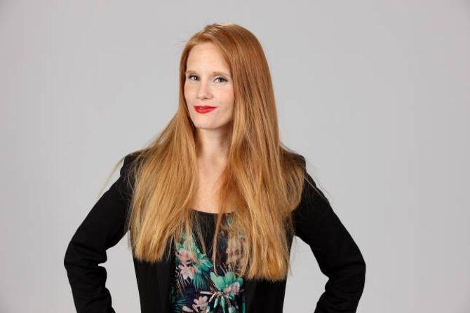 FANN BALANSEN: Redaktør Susanne Kaluza var påkopla så å seia heile tida. No er det ho som styrer nettbruken, og ikkje omvendt.