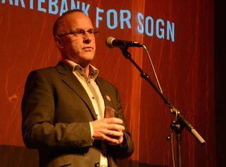 GIR ATTENDE:Geir Henning Høyheim, avdelingsbanksjef ved Sparebanken Vest.