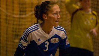 OPPGITT: Den spelande trenaren Lene Kvam Høsøien, tidlegare Jotun-spelar, meiner at laget hennar kunne prestert mykje betre enn det dei gjorde.