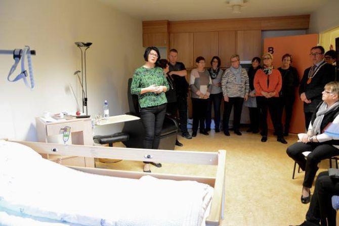 KORTTIDSOPPHALD: Slike rom finst det no til åtte pasientar.