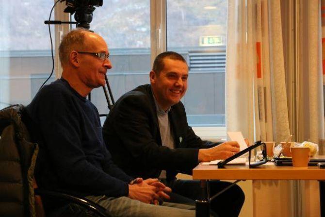 KRITISKE: Knut Arne Klingenberg (H) og Kurt Jevnaker (V) meiner det er problematisk at ein så framtredande politikar som Anne Kauppi skal sitja i styret som representant for næringslivet.