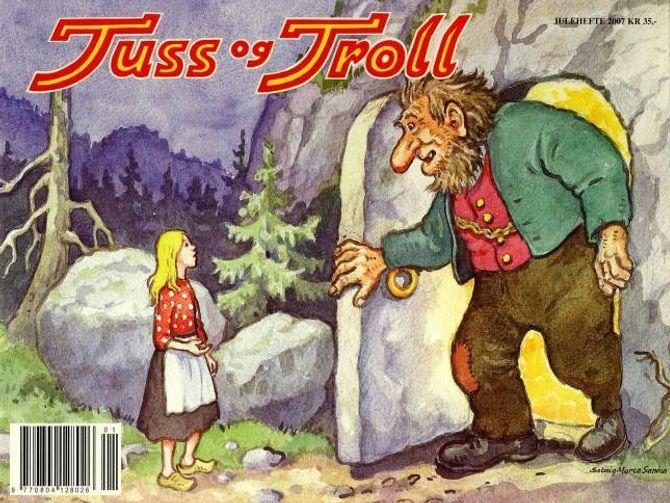 TEIKNAR: Solveig Muren Sanden teikna over 100 eventyr til juleheftet Tuss og Troll. Dette er framsida i 2007.