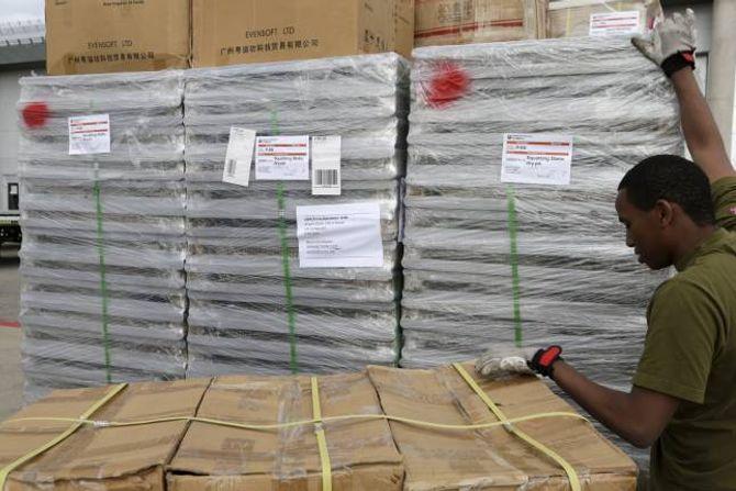 HJELPESENDING: Hjelpesending frå Kirkens Nødhjelp på veg til Nord-Irak.