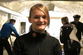 NY PERS: Silje Vetti Grøndal sette ny personleg rekord under årets juleskyting.