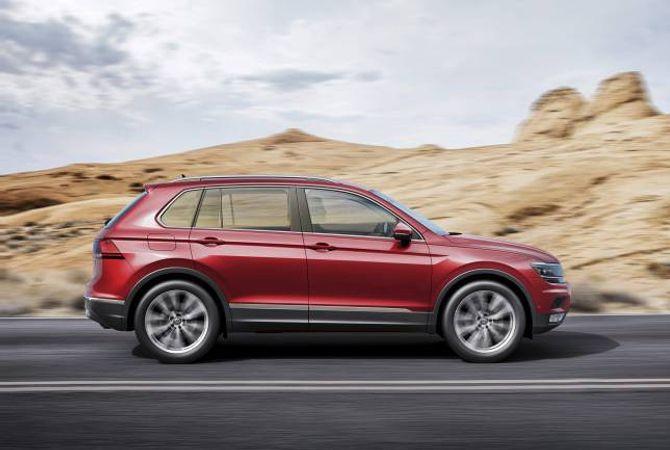 FOLKELEG: Ein heilt ny Volkswagen Tiguan er på trappene i 2016. Bilen kjem også i ein lang versjon og som ladbar hybrid. Bilen deler mykje av teknologien med Skodas nye SUV, endå ein bil som blir lansert i 2016.