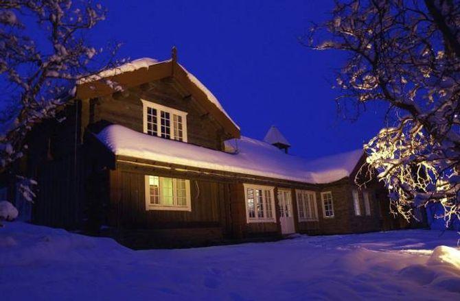 ROMSLEG: Dei nybygde hyttene i dag er ofte like store som hus.