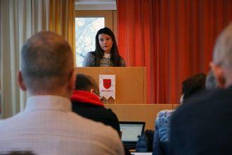VALRESULTAT: Marie Helene Hollevik Brandsdal (Ap) understreka at det ikkje er samarbeidet med MDG som gjer at dei har skifta meining saka.