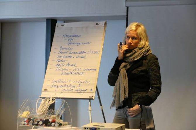 BREI FORANKRING: Ingrid Kvande fortel at dei tidleg i arbeidet går breitt ut blant folk i Årdal for å samle innspel til næringsplanen. Etter kvart skal dette spissast inn.