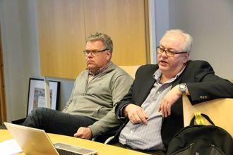 PRESENTERTE IDEEN: Leif Flemming Bakke og Ole Kristian Nedberge.