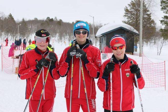 DELTAKARAR: Lars Jevnaker, Odd Harald Larsen og Gard Vigdal deltok alle i klasse 13 til 14 år.