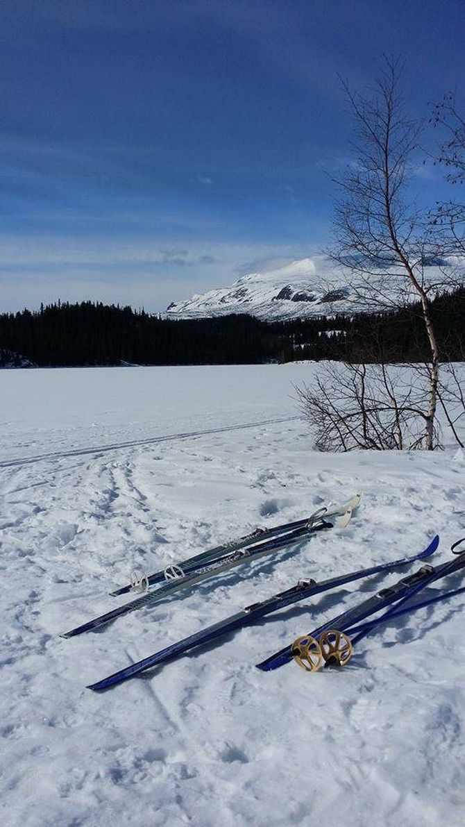 SKI:Åsvang ligg ved foten av Slettefjell og kan friste med fine skiløyper.