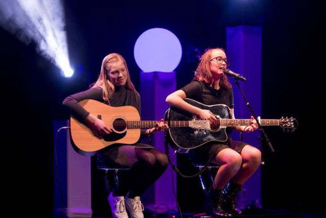 UNG KULTUR: «Bandet» frå Årdal deltok også, men gjekk ikkje vidare.