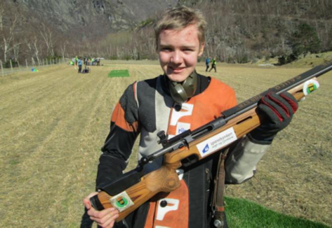 VANN:Vinnar av juniorklassen vart Eskil Forthun.