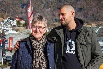 FANN TONEN: Rektor Marta Sofie Vange og Leo Ajkic saman på innspelingsdagen.