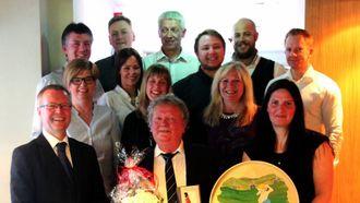 NÆRT FORHOLD: Arne Moen har hatt eit nært forhold til kollegaene sine i NorSun.