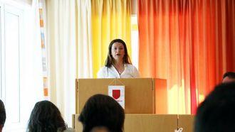 NEI: Marie Helene Hollevik Brandsdal (Ap) sa tydeleg nei til å ta midlar frå næringsfondet og putta på klimafondet.
