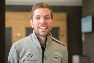 VINN-VINN: Fysisk trenar Helge Haugen har ansvar for å omsetje tal og statistikkar til fotballspråket.
