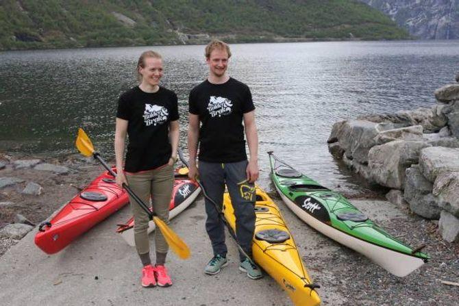 KURS:Torunn Todal Laberg og Lars-Kristian Fauskehar starta opp friluftslivselskapet Bulder&Brak.