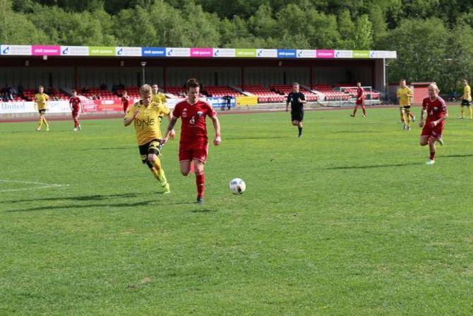 SCORA: Christian Stedje sette det andre målet til Årdalspelarane.