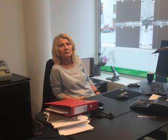 BURRETSLAG: Greta Steinheim frå GarantiEiendomsmegling.