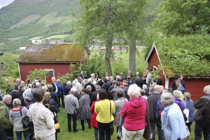 IVAR AASEN: Dei nynorske festspela blir kvart år arrangert i Ørsta og Volda. Her frå opninga i fjor.