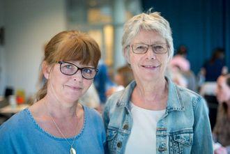 INSPIRERTE: Sissel Eldegard ogTorhild Lindlandfrå vaksenopplæringa i Årdal var på plass for å hauste erfaringar frå Sogndal.