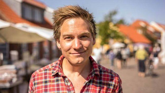 NØGD: Sognnes seier han er godt nøgd med resultatet, som er filma i Skagen.