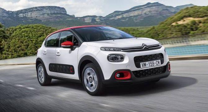 FUNKY: Citroën satsar igjen med litt frekk design på sine modeller. C3 hentar element frå C4 Cactus.